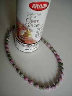 Paper beads - make these from old magazines or books.