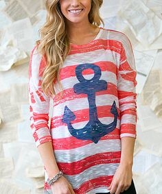 Another great find on #zulily! Coral Anchors Away Tunic by White Plum #zulilyfinds