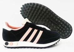 Scarpe Adidas LA Trainer W 39.1/3 Nero Rosa Bianco Donna Bambina Nuovo D65501