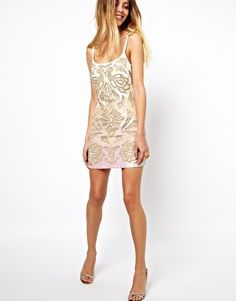 Image 4 ofNeedle & Thread Tracing Mini Dress gfvkygohoiujniub LOVE