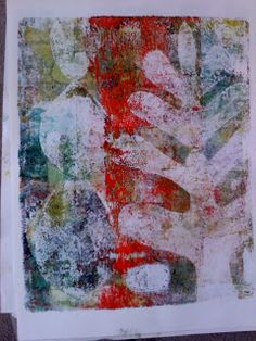 more gelli monoprints... When I saw this I was in love <3