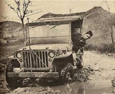 Jeep - Driver is looking to get a face full of mud Real quick.