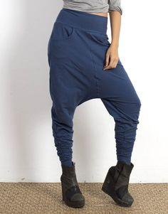 Indigo Low Crotch Pants Organic Cotton