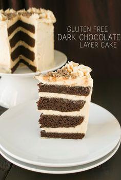 My Gluten Free Bakery: Gluten Free Dark Chocolate Layer Cake