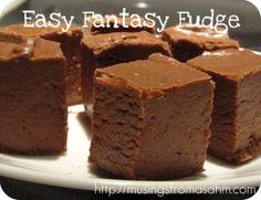 Easy Fantasy Fudge Fudge Recipes, Candy Recipes, Sweet Recipes, Dessert Recipes, Yummy Treats, Sweet Treats, Yummy Food, Holiday Baking, Christmas Baking