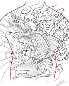 Click the link to get more information on japanese koi dragon tattoo. Talk with individuals who have had the procedure you are planning to take part in. You could possibly discover information that you should know. Koi Dragon Tattoo, Carp Tattoo, Dragon Fish, Koi Fish Tattoo, Japanese Koi, Japanese Prints, Irezumi Tattoos, Leg Tattoos, Ipad Pro