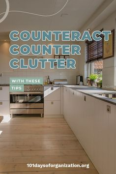 If you feel like your counters are constantly cluttered no matter how many times you clean the kitchen, you need to see how to clear counter clutter today! Kitchen Cupboard Organization, Countertop Organization, Small Kitchen Storage, Big Kitchen, Declutter Home, Declutter Your Life, Mail Organizer Wall, Clutter Solutions, Cleaning