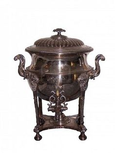 ornate silver Antique Tea Pot