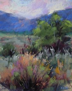 Summer in Taos, painting by artist Karen Margulis