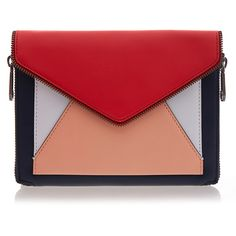 Rebecca Minkoff Oxford Multi Marlowe Mini Envelope Clutch (6.920 RUB) ❤ liked on Polyvore featuring bags, handbags, clutches, multicolour, mini handbags, colorful purses, multi colored handbags, rebecca minkoff handbags and colorful clutches