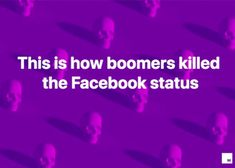 Nothing brings Boomers more joy than Facebook (aside from complaining about millennials, of course). Most people between the age of 54 and 73 love to use is the colorful, personalized status update feature. This is basically catnip for Boomers. But maybe not every thought you have needs a digital glow up. Old Facebook, About Facebook, Facebook Users, Facebook Status, Facebook Image, Family Photo Album, Family Photos, Pink Heart Background, About Twitter
