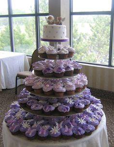 purple wedding ideas | bride.ca | Wedding Cupcakes 101: Cupcake Wedding Cake Ideas