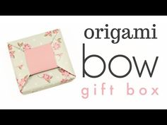 Learn how to fold an origami bow gift box! Makes a very cute and pretty gift, use contrasting coloured paper for a chic look! The lid is uses 2 square origami papers. Origami Candy Box, Origami Ring, Origami Gift Box, Origami Bow, Origami Folding, Useful Origami, Origami Easy, Origami Paper, Oragami