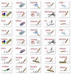 21 consignes illustrées pour afficher en classe ou intégrer à vos exercices.