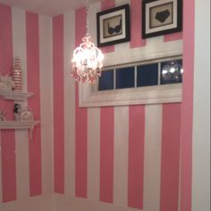 Cutesy bathroom...I want to have the walls of my closet like this. #VS