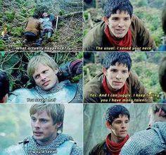 Merlin saving Arthur, as usual