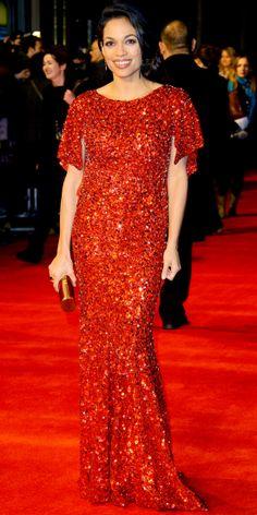 "Rosario Dawson in Jenny Packham (2013 London premiere of ""Trance"")"