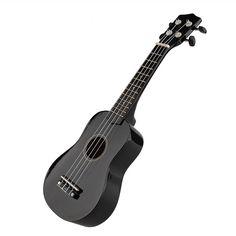 "Professional 21"" Acoustic guitar Strings Ukulele Concert Cuatro Instrument black | eBay"