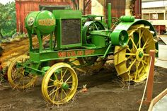 Waterloo Boy, where it all started. Deere bought the company and sold the tractor, but immediately began to design their own tractor based on this. When the D was introduced,  obviously it looked nothing like this. The same engine was used, although Deere rotated it 180 degrees so the combustion chambers faced the front of the tractor rather than the farmer. I believe the same transmission and final drives were used as well.
