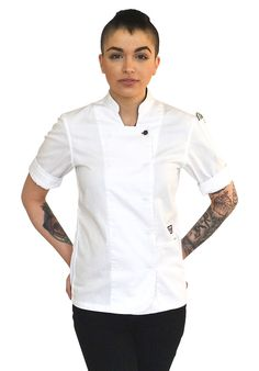 WOMEN'S CHEF COAT | Chef wear by Tilit: chef coats, chef pants, aprons, work-shirts, custom workwear, server uniforms, made in USA chef gear.