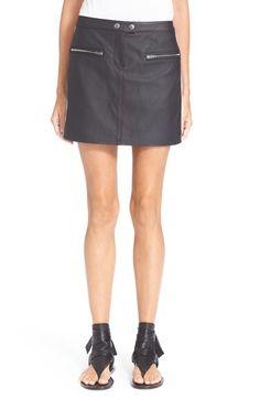 RAG & BONE 'Pace' Lambskin Leather Miniskirt. #ragbone #cloth #