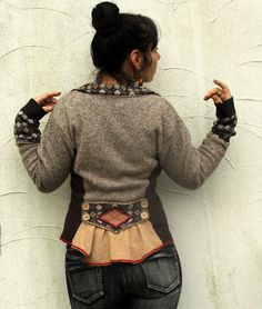 Sweater recycled cool jacket street boho style by jamfashion