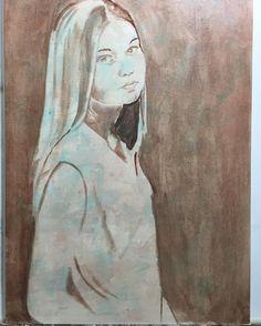 1 phase - in progress #in progress #oilpaint #oilpainting #originalart #almazzaglia #artnews #figure #beauty #painting #paint