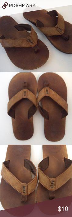 31b9c05f2a25 Reef Kids Leather Flip Flops 13 1 SH782 0119