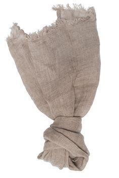 Grey Linen Scarf - Natural Linen - Woman Scarf  - Man Scarf - Organic Scarf
