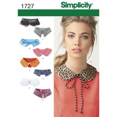"Simplicity collar sewing patterns help you create your own unique embellished collar accessory. Wear this trendy collar as a necklace, mix and match with current dresses and tops to update the look. Pattern has three sizes: neck measurements S (12 1/2""), M (13 1/2""), L (14 1/2"").<br><br>Shop our wide assortment of <a href=""http://www.simplicity.com/c-178-apparel-craft-trims.aspx""><strong>trims</strong&..."