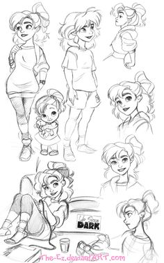 Big Abi Sketch Dump - November 2014 by The-Ez