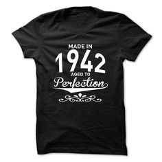 Made in 1942 Aged to Perfection T-Shirts, Hoodies. Check Price Now ==► https://www.sunfrog.com/LifeStyle/Made-in-1942--Aged-to-Perfection--New-Design-hhurafuvpc.html?id=41382