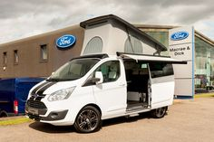 A cool, white campervan - the Wellhouse Leisure Ford Terrier, Bianco Sport Edition, 155PS In Frozen White