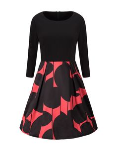 Round Neck Color Block Skater Dress Only $23.95 USD More info...