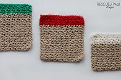 Christmas Dishcloth Crochet Gift Set Patterns Via Rescued Paw Designs