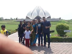 Travelicious Holiday's Guest at Louts Temple in Delhi