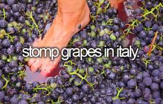 Stomp grapes in Italy