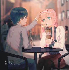 Darling in the FranXX Image - Zerochan Anime Image Board Anime Couples, Cute Couples, Tokyo Ghoul, Waifu Material, Zero Two, Another Anime, Fanart, Best Waifu, Darling In The Franxx