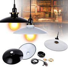 Black/White Iron Vintage pendant lamp Retro Industrial DIY Pendant Lamp Chandelier Ceiling Light Fixture(China)