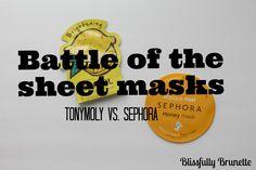 Battle of the Sheet Masks: Sephora vs. TonyMoly