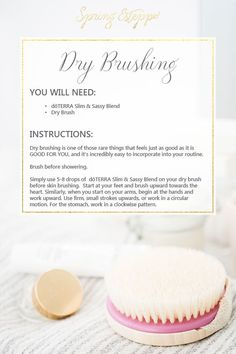 Dry brushing benefits How to dry brush. Dry brushing with doTERRA essential oils. Using essential oils for dry brushing Organic Face Cream, Organic Skin Care, Natural Skin Care, Au Natural, Natural Face, Natural Beauty, Oil For Dry Skin, Cream For Dry Skin, Essential Oil Uses