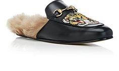 Hender Scheme Black Lion & Pierced Heart Princetown Slip-On Loafers cGye5Z