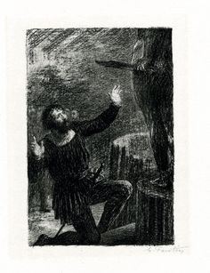 La fonte du Persée (1888), lithograph by Henri Fantin-Latour (1836-1904), from Act 3 of Benvenuto Cellini (1838), by Hector Berlioz (1803-1869).