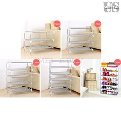 EBAY: **I have one similar to this and paid MUCH more!**  7 Tier Metal & Fabric Stackable Shoe Rack/Organizer for ONLY $17.98 + Ships FREE!  Also available in 3-6 Tier Options!  Get Organized: http://ebay.to/2lP1XjM  #ad