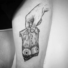 See no evil  #darkartists tattoo by @weepandforfeit
