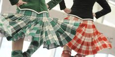 On the left - kilt from the back with green jacket #lennox #green #tartan
