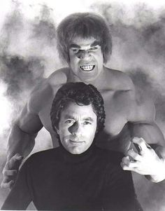 Bill Bixby and Lou Ferrigno in The Incredible Hulk, 1979 Movies And Series, Tv Series, The Incredible Hulk 1978, Giant Monster Movies, Red Hulk, Hulk Smash, Old Tv Shows, Vintage Tv, Cultura Pop