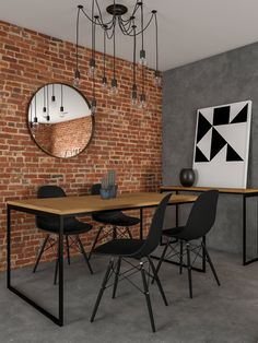 Home Room Design, Dining Room Design, Dining Area, Kitchen Design, House Design, Industrial Interior Design, Industrial House, Industrial Flooring, Industrial Apartment