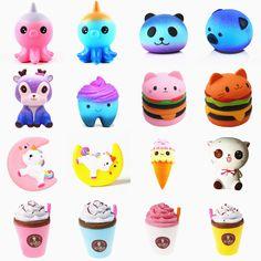 Cute Squishies, Lego Girls, Kawaii, Anti Stress, Clay Charms, Galaxy, Holiday Gifts, Hello Kitty, Unicorn
