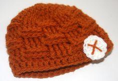 Crochet Baby Boy Beanie Mustard
